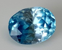 2 cts BLUE ZIRCON Best Grade Gemstones JI14