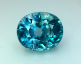 3.80 Cts Blue Zircon Awesome Color ~ Cambodia Pv.1