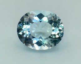3.80 Cts Aquamarine Awesome Luster and Cut ~ Pv.3