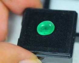 1.98Ct Natural Zambia Emerald Oval Cut Lot LZB06