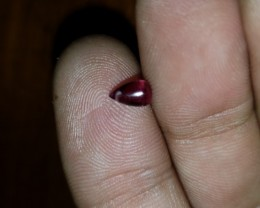 0.80 Ct Unheated Purple Garnet Drilled Briolette