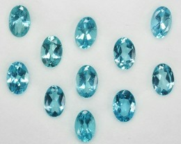 5.25 Cts Natural Paraiba Blue Apatite Oval 6x4 MM Brazil