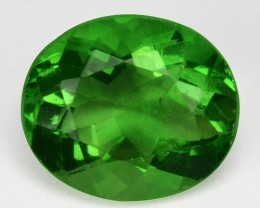 2.56 Cts Rare Natural Green Fluorite Oval Bihar Gem