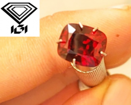 NR - IGI Certified Unheated 3.42 CT Pigeon's Blood Red Jedi Spinel $17,800