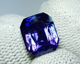 NO RESERVE UNHEAT 5.04 CTS CERTIFIED STUNNING VIOLETISH BLUE SAPPHIRE CEYLO