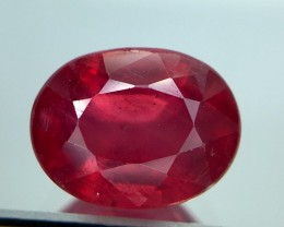3.45 Crt Composite Ruby Glass Filled Faceted Gemstone (R 7)