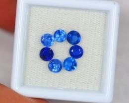 2.53ct Natural Blue Kyanite Round Cut Lot V2017