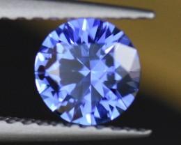 .78CT 5.5mm Round Brilliant Cut Blue Sapphire
