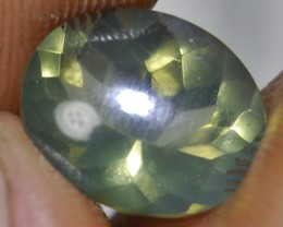 UNTREATED GREENISH CLEAR FIRE INDONESIAN FACETED OPAL 2.15 CT