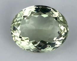 23.43 ct. Natural Green Amethyst. No reserve Price. 10 $ start.