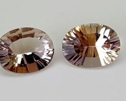 3.30Crt Bolivia Ametrine Pairs Best Grade Gemstones JI15