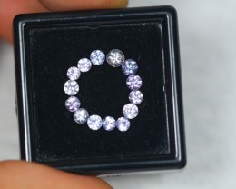 1.45ct Natural Pink Sapphire Round Cut Lot GW2076