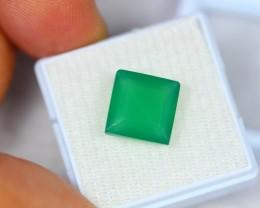 5.56ct Natural Green Onyx Square Cut Lot GW2077
