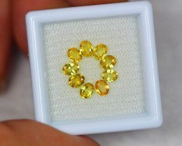 1.81ct Natural Yellow Sapphire Oval Cut Lot GW2081
