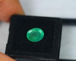 2.56ct Natural Zambia Emerald Oval Cut Lot GW2083