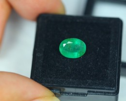 1.76Ct Natural Zambia Emerald Oval Cut Lot LZ1074