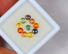2.31ct Natural Fancy Color Sapphire Round Cut Lot GW2092