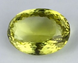 22.15 ct. Natural Lemon Quartz. No reserve price. 1 $ start.