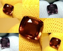 UNTREATED CERTIFIED 4.32 CTS CUSHION CUT RARE COLOR CHANGE GARNET