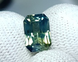 UNHEATED CERTIFIED 2.88 CTS NATURAL BEAUTIFUL GREEN SAPPHIRE FROM CEYLON
