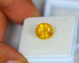 4.66ct Natural Yellow Sapphire Oval Cut Lot GW2109