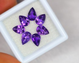 4.10ct Purple Amethyst Pear Cut Lot GW2146