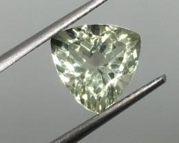 2.66 Carat VVS Prasiolite Trillion - Brazilian Beauty and Quality !