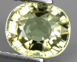 1.45 CTS AWESOME NICE OVAL-RARE MINT YELLOW-NATURAL TOURMALINE FACET GENUIN