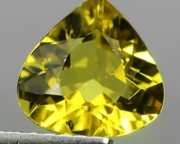 1.25 CTS MARVELOUS LUSTER EXCELLENT YELLOW NATURAL BERYL PEAR GEM NR!