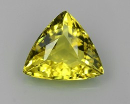 AMAZING 1.03 CTS ViPS-COLLECTION  FINE QUALITY TRILLION SHAPE YELLOW BERYL