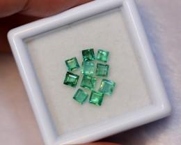1.18carats Vivid Green Color Zambian Emerald Lot