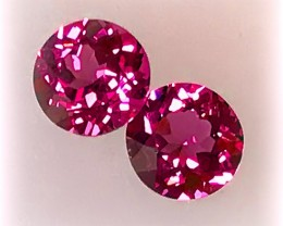 Fabulous Crimson Umbalite Garnet Pair - Rich Pink gems VVS