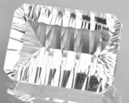 32.52 Cts Natural White Quartz  Concave Cut Octagon Brazil Gem