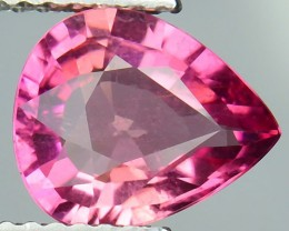 1.70 Cts Natural Hot Pink Tourmaline Pear  Mozambique Gem