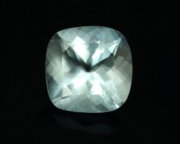 1.85 CTS~TOP FIRE ULTRA RAREST 8MM CUSHION-CUT AQUAMARINE
