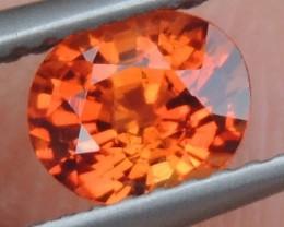 1.04cts Mandarin Garnet,  Untreated Vivid Stone,  Clean