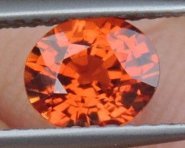 1.30cts Mandarin Garnet,  Untreated Vivid Stone,  Clean