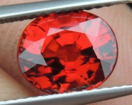 3.18cts Mandarin Garnet,  Untreated Vivid Stone,  Clean