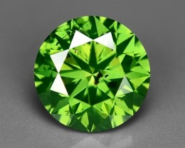 0.60 CT FANCY INTENSE LIME GREEN DAIMOND BORNEO MINE GD3