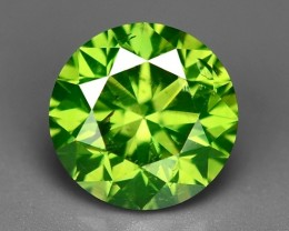 0.62 CT FANCY INTENSE LIME GREEN DAIMOND BORNEO MINE GD4
