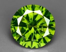 0.58 CT FANCY INTENSE LIME GREEN DAIMOND BORNEO MINE GD5