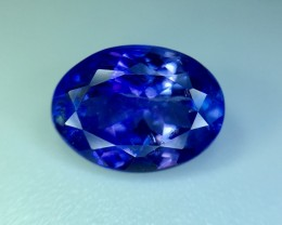 1.90 Cts Tanzanite Faceted Gemstone Awesome Color & Cut ~ Pv.5