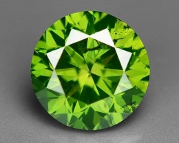 0.69 CT  FANCY INTENSE LIME GREEN DAIMOND BORNEO MINE GD11