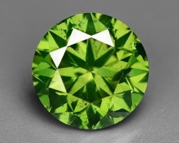 0.63 CT  FANCY INTENSE LIME GREEN DAIMOND BORNEO MINE GD14