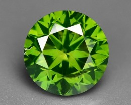 0.53 CT FANCY INTENSE LIME GREEN DAIMOND BORNEO MINE GD15