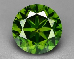 0.44 CT  FANCY INTENSE LIME GREEN DAIMOND BORNEO MINE GD18