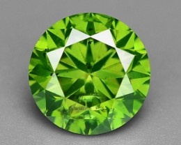 0.45 CT DAIMOND SPARKLING GREEN COLOR GD21