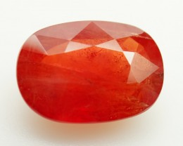 5.89 ct .  Natural Reddish Orange Sapphire - Sri Lanka  - IGE Сertified