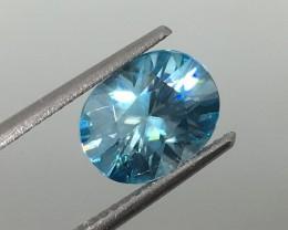 2.85 Carat VVS Zircon Caribbean Blue - Precision Cut Quality !