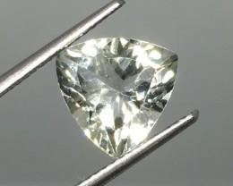 2.97 Carat VVS Prasiolite Trillion - Gorgeous Clarity !